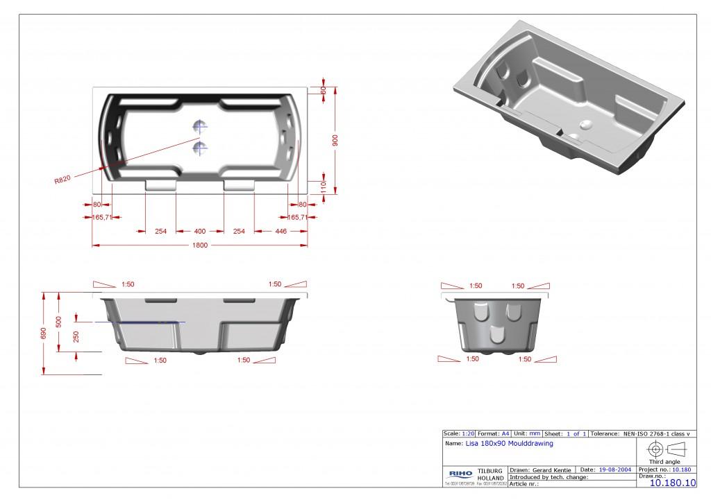 10.180.10 Lisa tub 180x90 moulddrawing